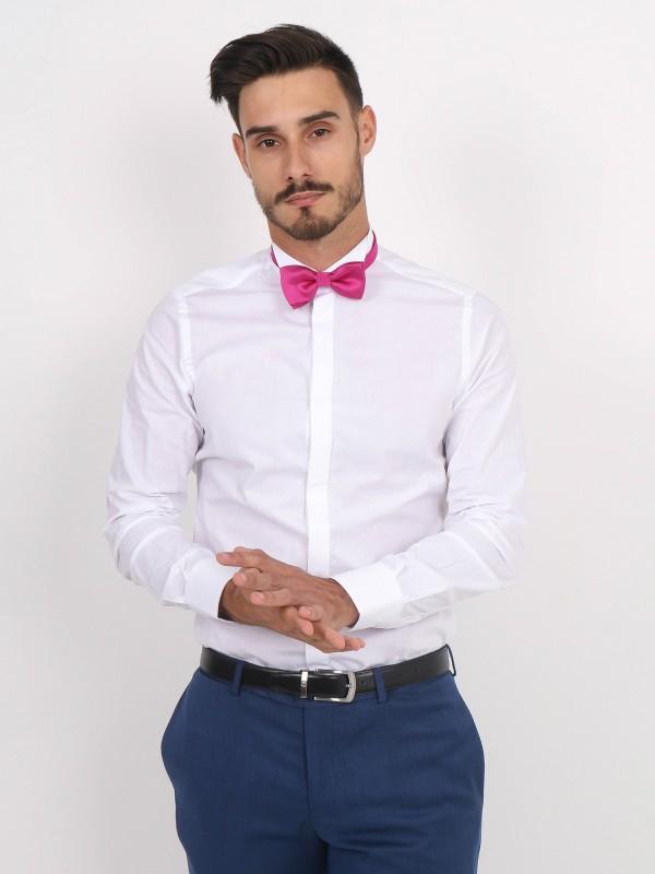 Slim fit bowtie collar classic shirt