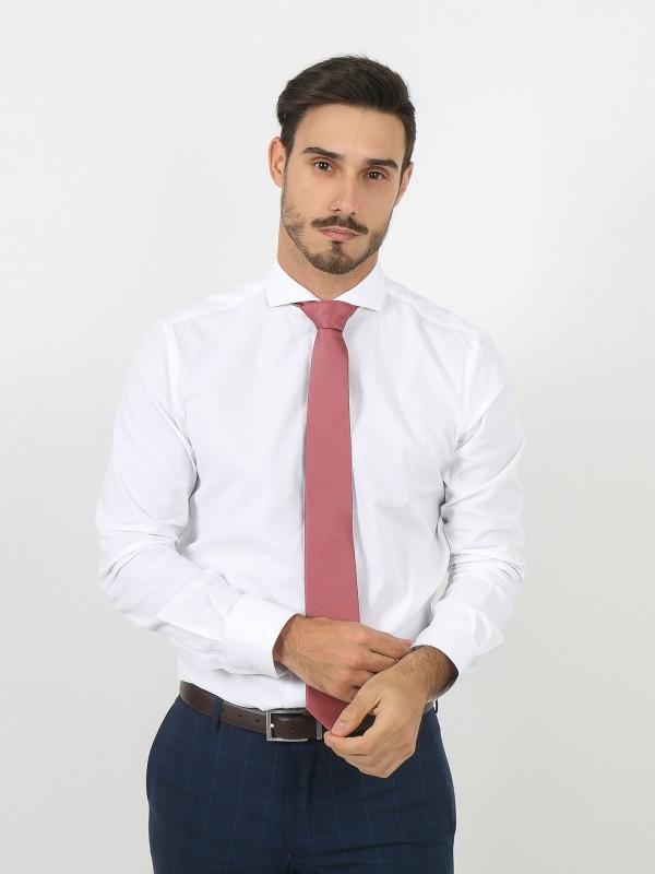 Camisa clásica regular fit micro estructura