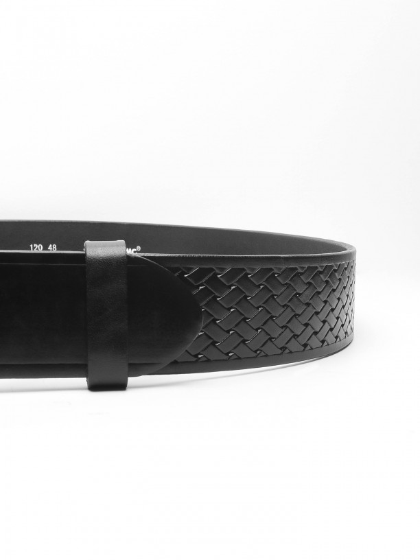 Leather casual belt