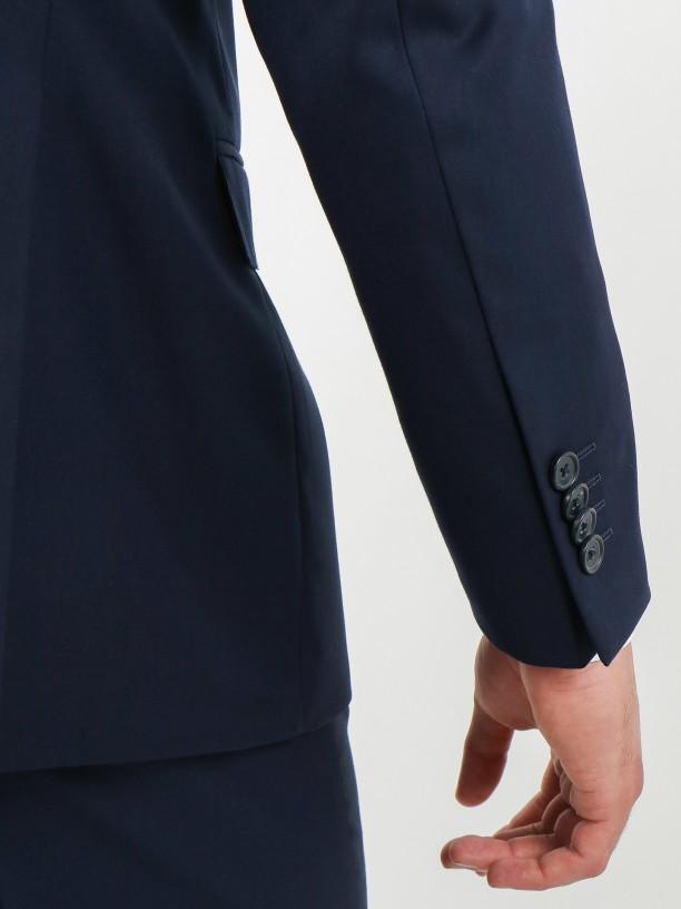 Regular fit plain classic blazer