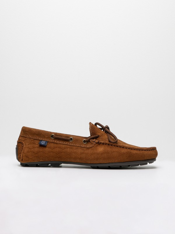 Suede leather casual loafers