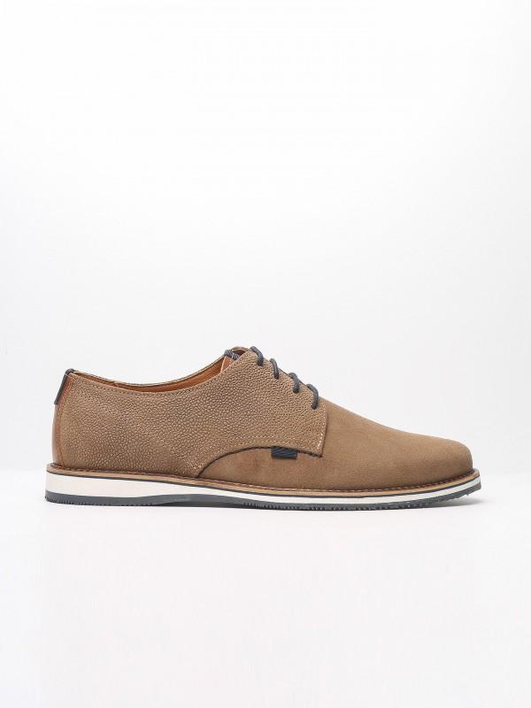 Sapato casual de pele croute