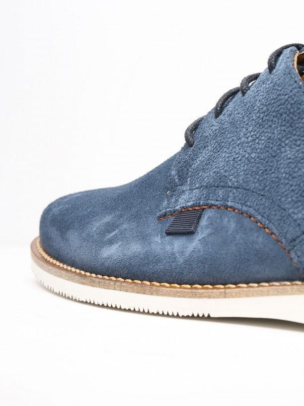 Zapato casual de piel serraje
