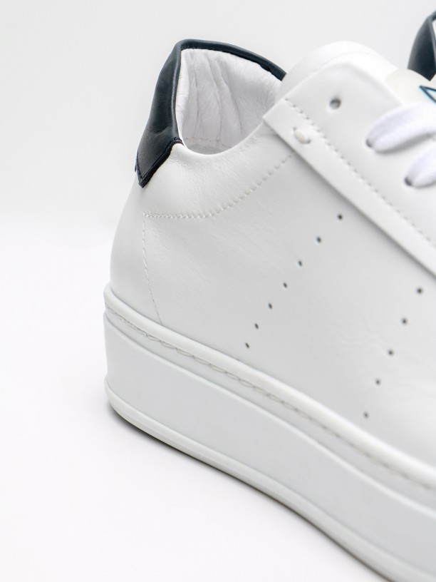 Polished leather sneakers