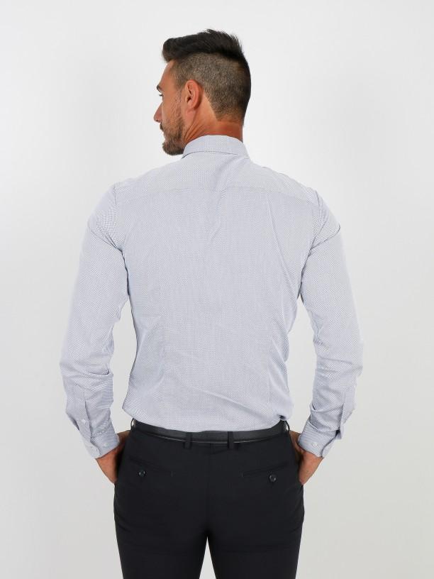 Camisa clásica micro estructura slim fit