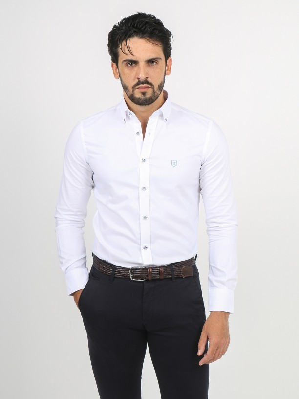 Plain shirt with elbow pads