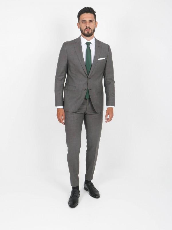 100% wool micro pattern regular fit suit