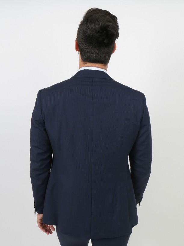 Traje estampado rayas regular fit lana virgen