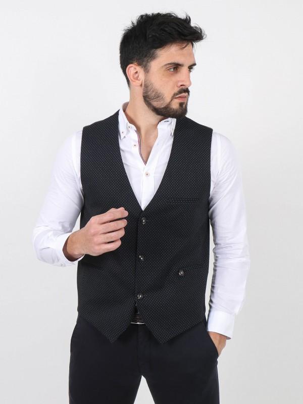 Knit fabric pattern waistcoat