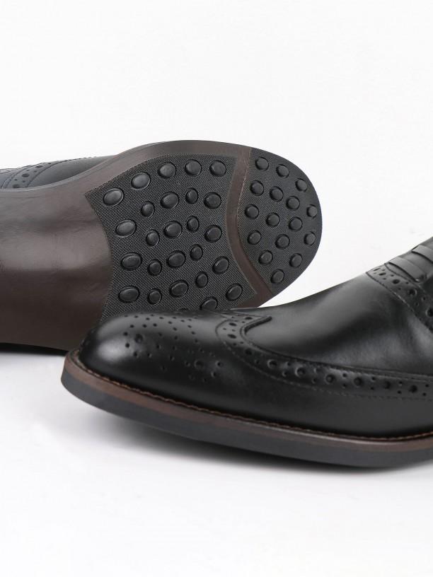 Zapato de vestir de piel con franja