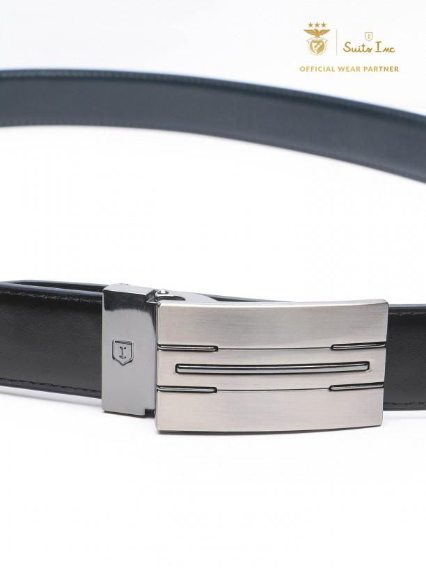 Leather elegant reversible belt