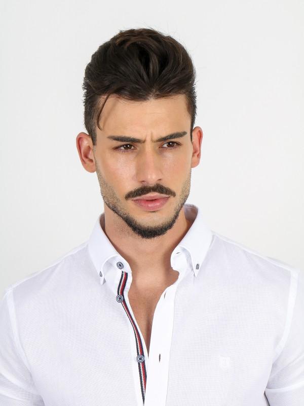 Cotton micro structured plain shirt