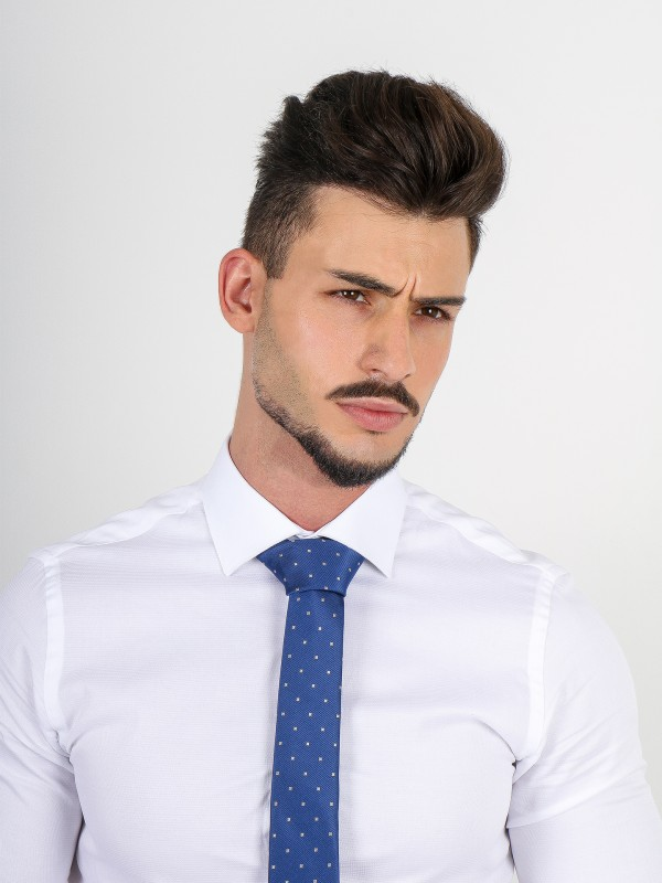 Camisa clássica slim fit micro estrutura