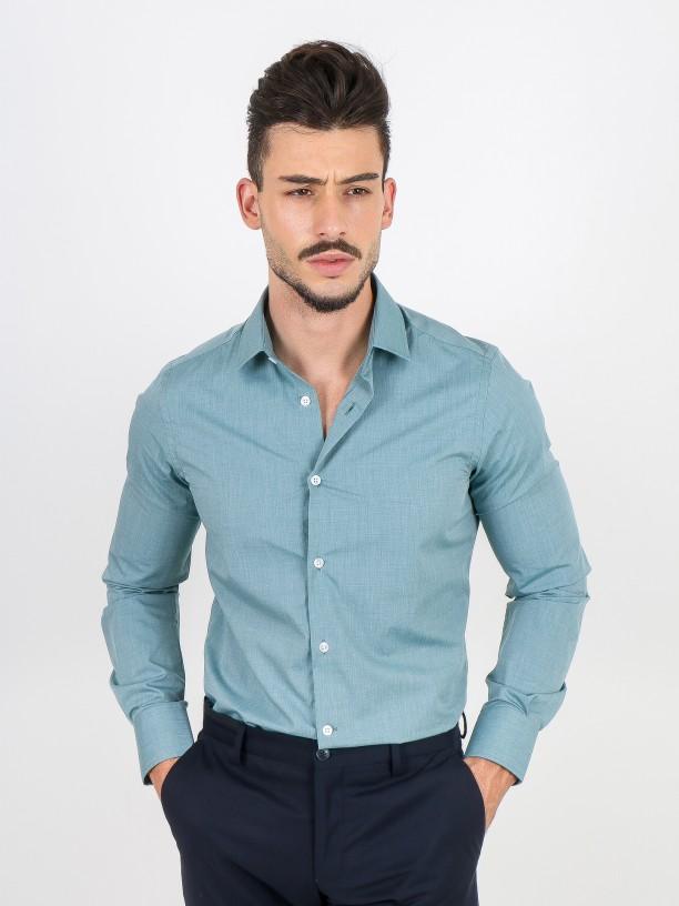 Camisa clásica lisa slim fit