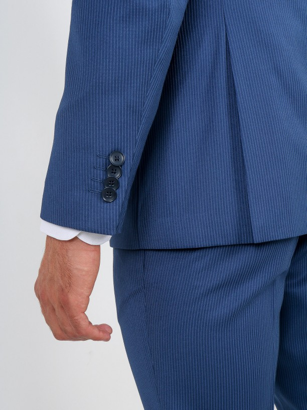 Traje de estampado rayas regular fit