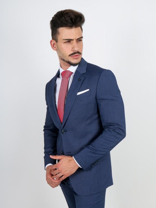 Slim fit micro pattern suit