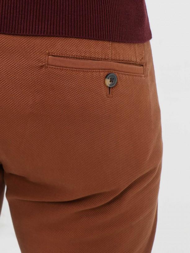 Pantalones chino algodón estructura slim fit