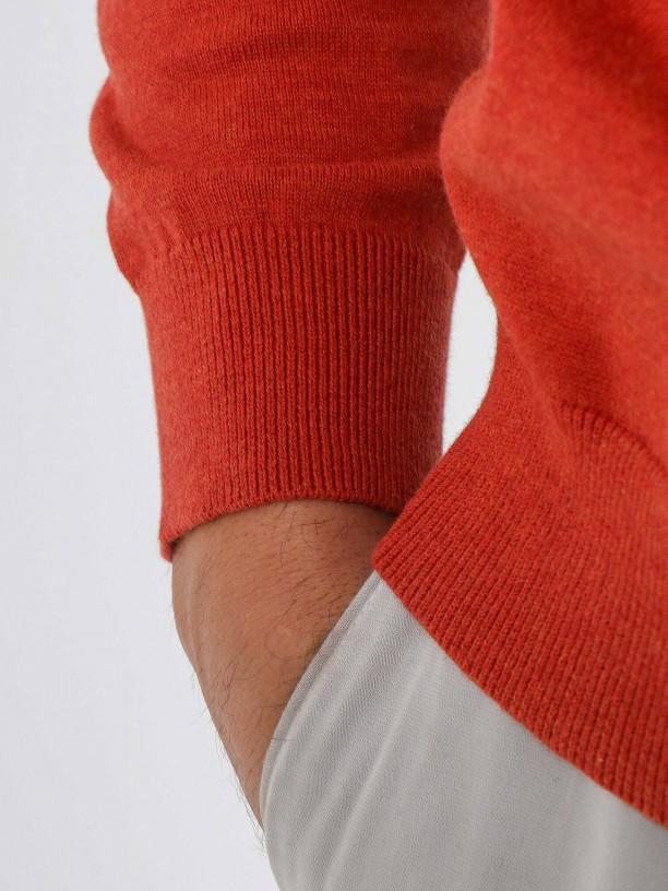 Camisola de malha algodão gola redonda