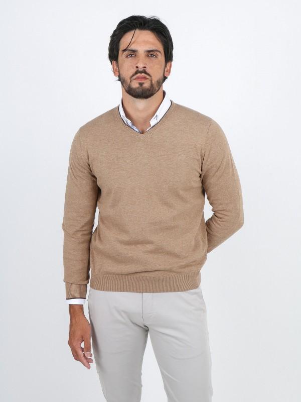 Jersey de punto algodón contraste