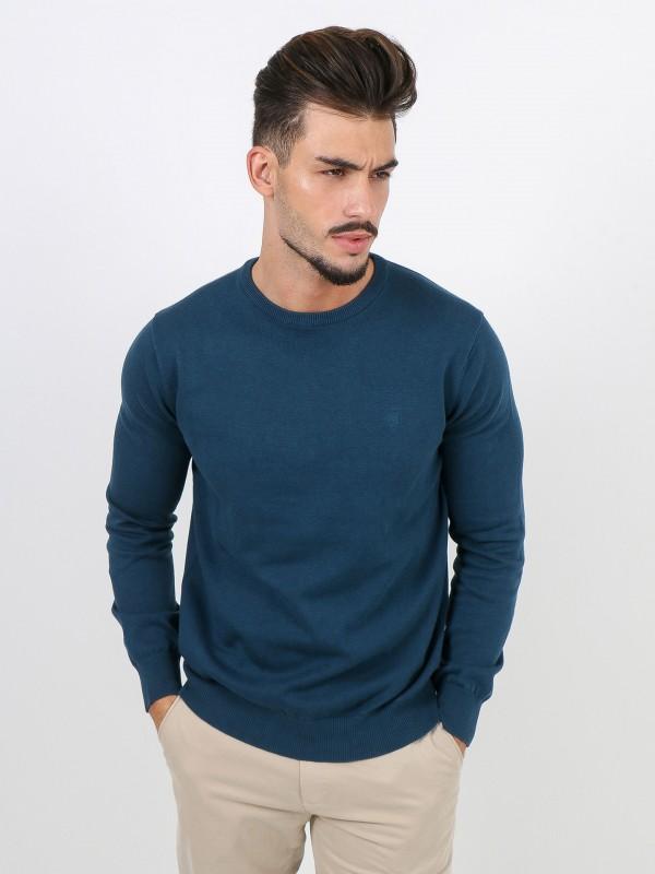 Jersey de punto algodón cuello redondo