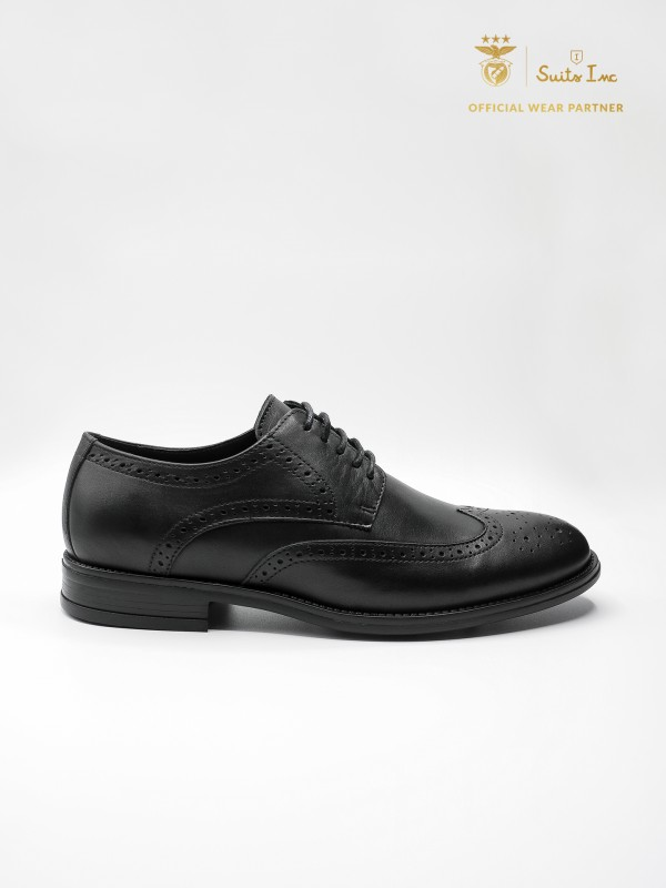 Leather elegant shoes with pricked detail SL Benfica edition