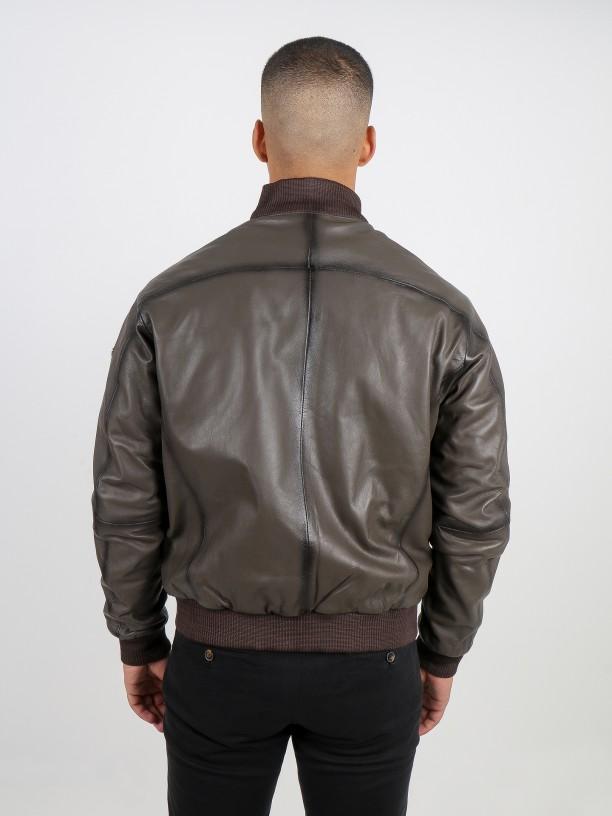 Genuine leather jacket
