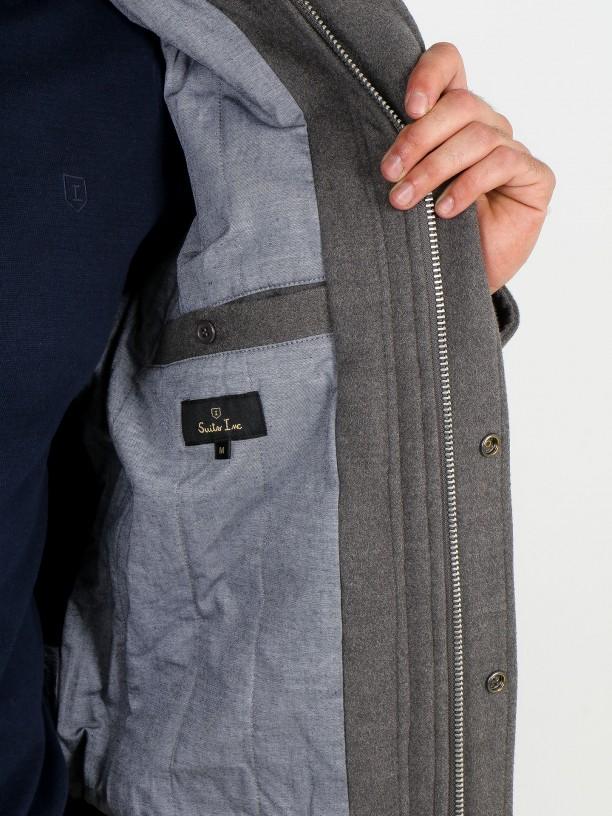 Aviator jacket with fur collar