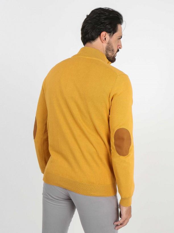 Jersey de punto medio cierre botones