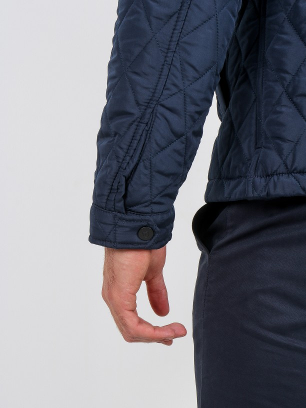 Quilted technical jacket
