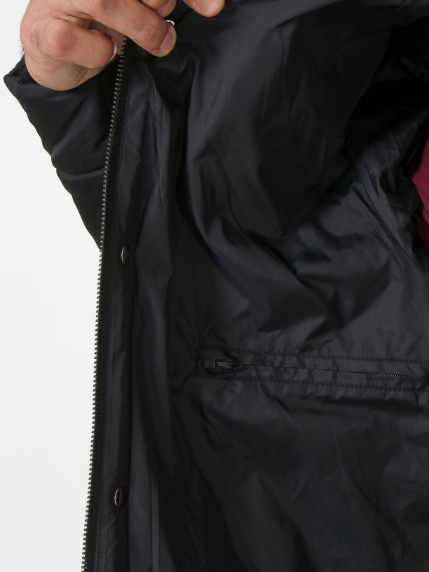 Combined jacket with hood
