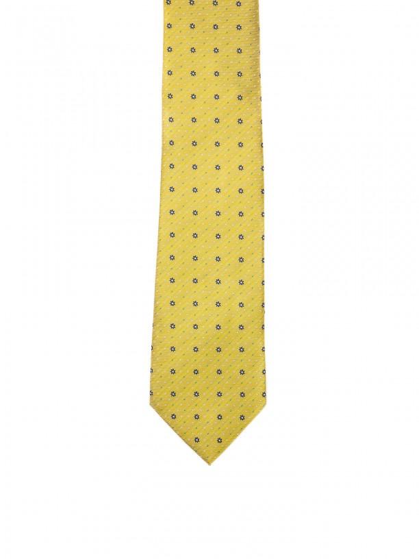 Gravata clássica com padrão florido