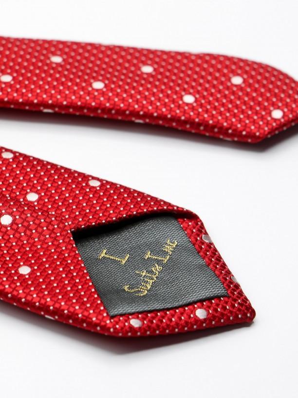 Corbata fina con estampado de pontos