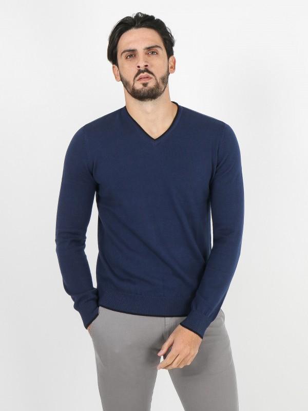 Camisola de malha algodão com cotoveleira