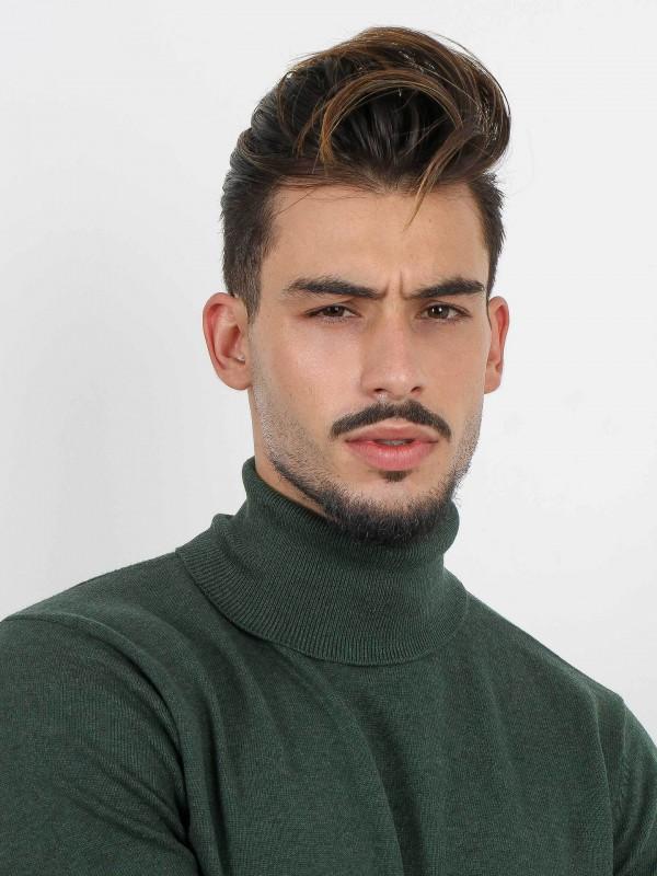 Jersey de cuello cisne algodón