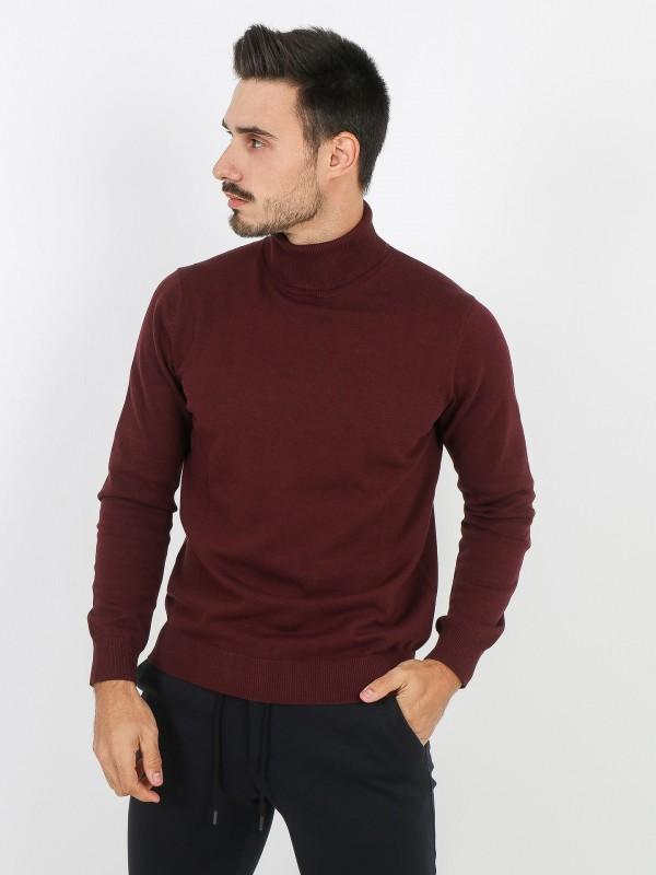 Camisola de gola alta algodão