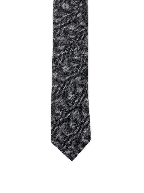 Gravata de malha com padrão
