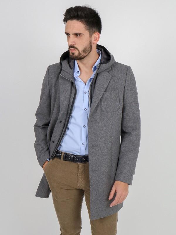 Abrigo desmontable de lana