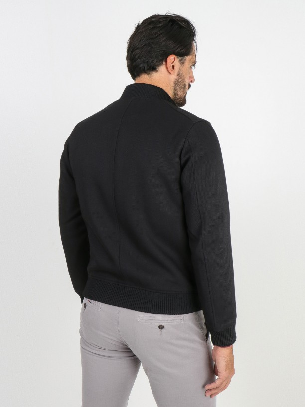 Bomber jacket with chest pockets
