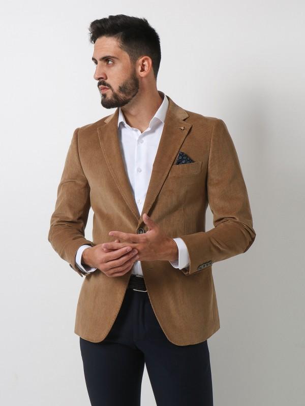 Corduroy blazer with elbow pads