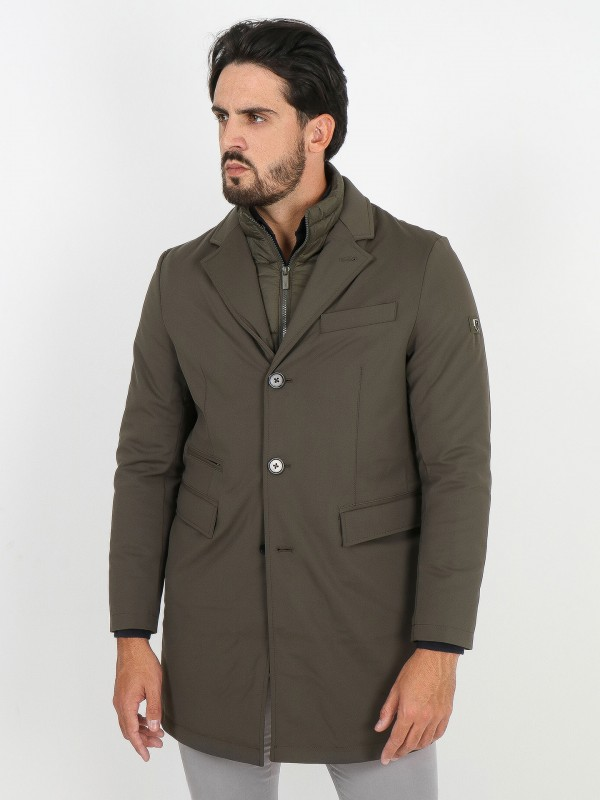 Trench coat with removable interior view