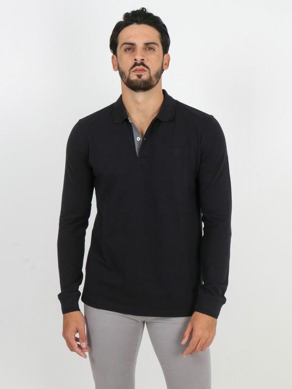 100% cotton long sleeve polo