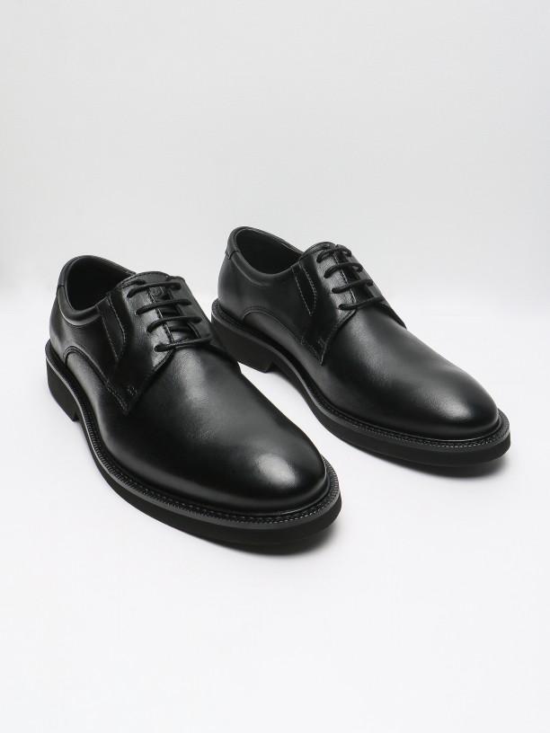Zapato de vestir de piel con plantilla reforzada