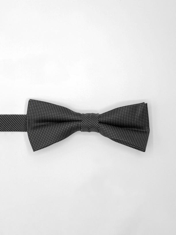 Micro dotts pattern bow tie