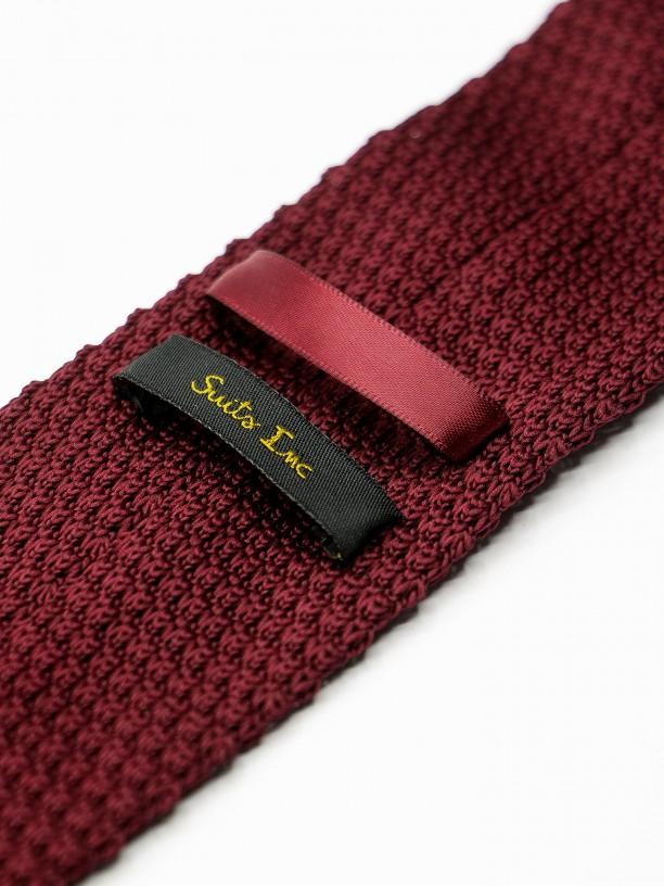 Gravata de malha handmade padrão pontos