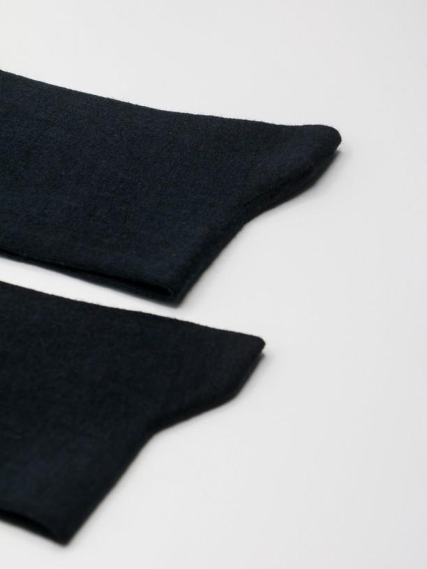 Calcetines largos de modal y algodón