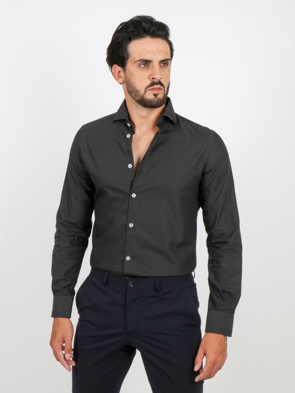 Camisa clásica slim fit estampado estructura