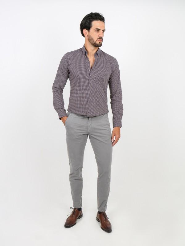Pantalones chino slim fit algodón cintura elástica